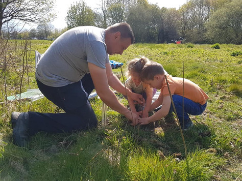 Hedgerow planting with families - May 2021