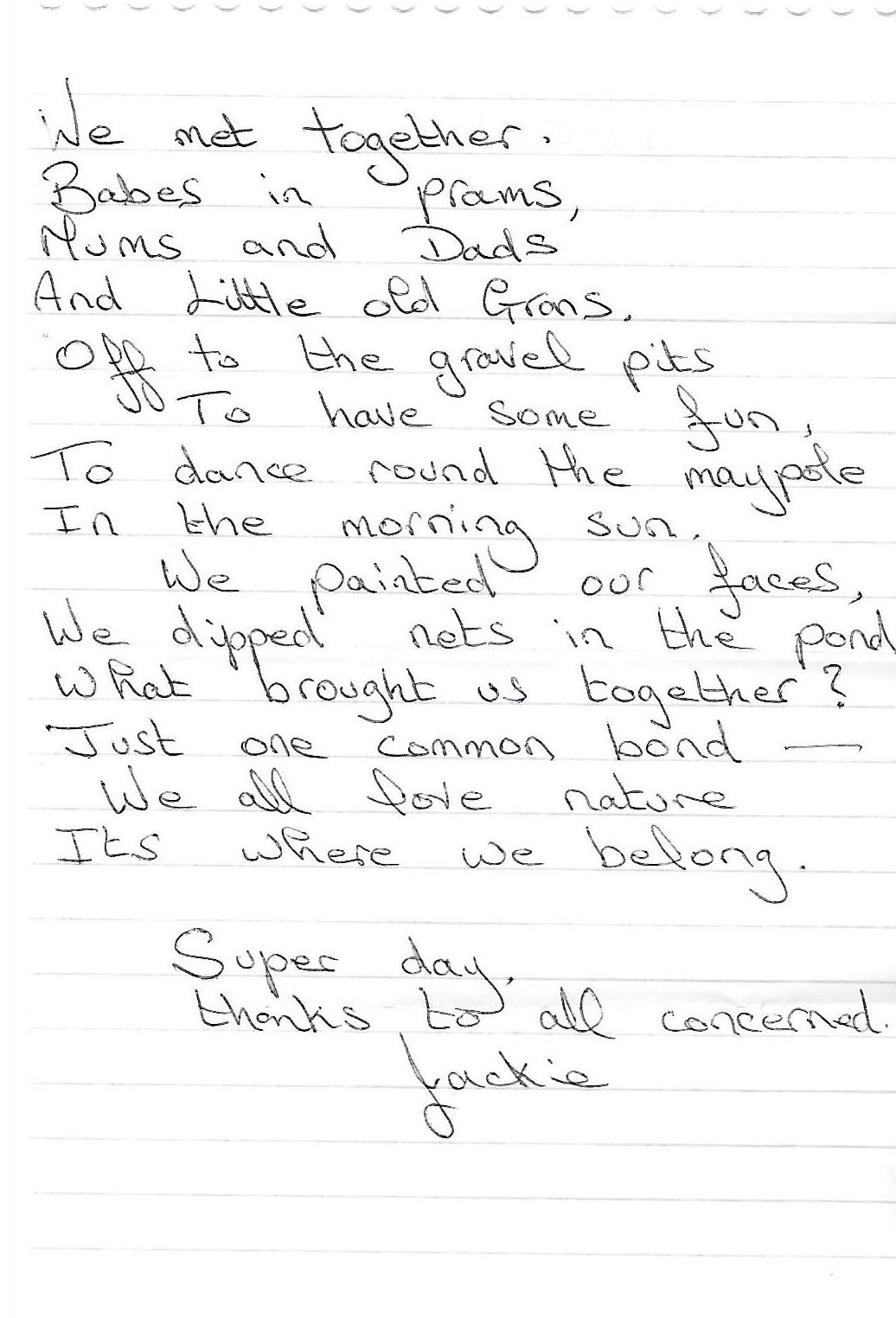 jackie's poem