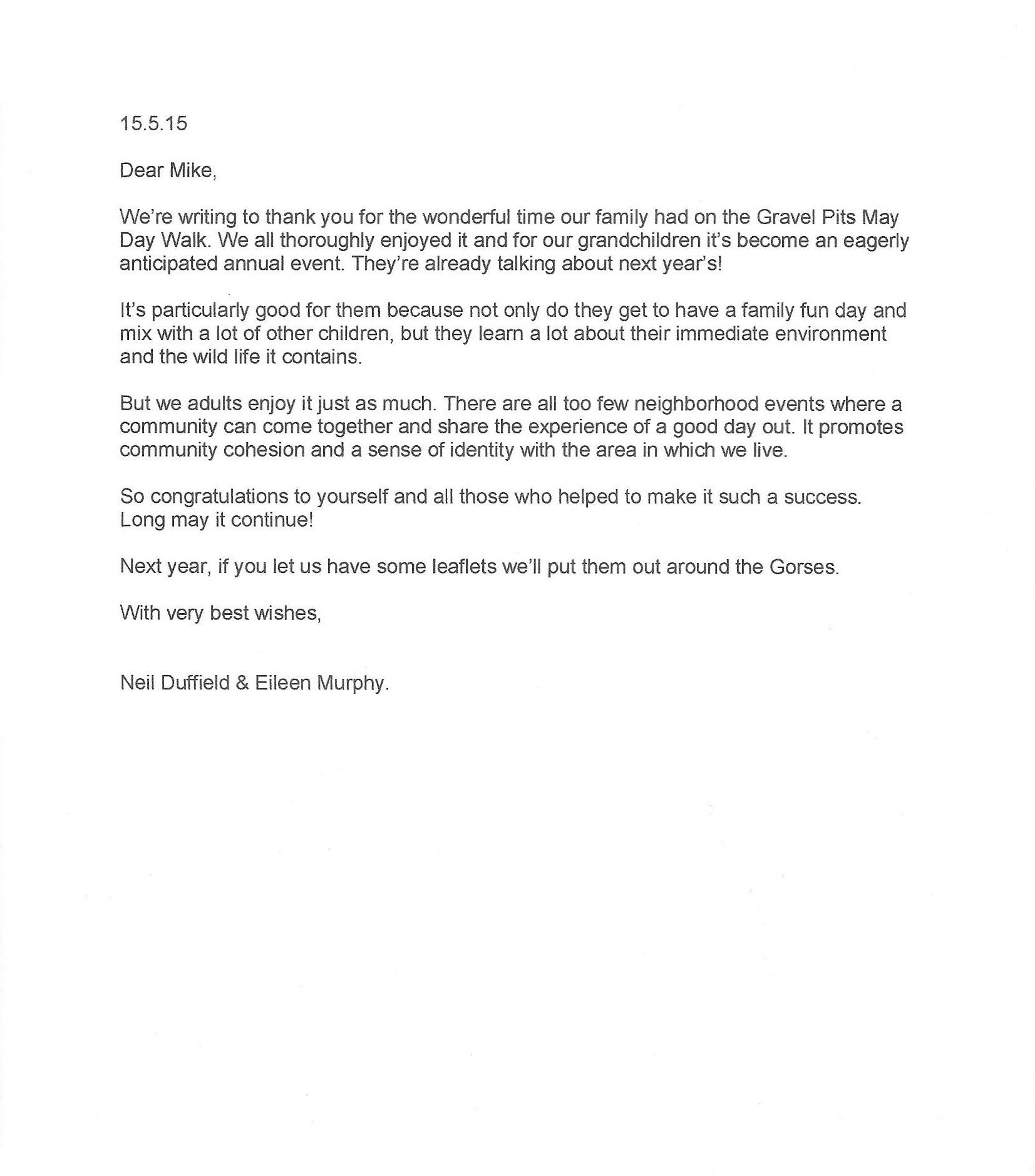 neil's letter