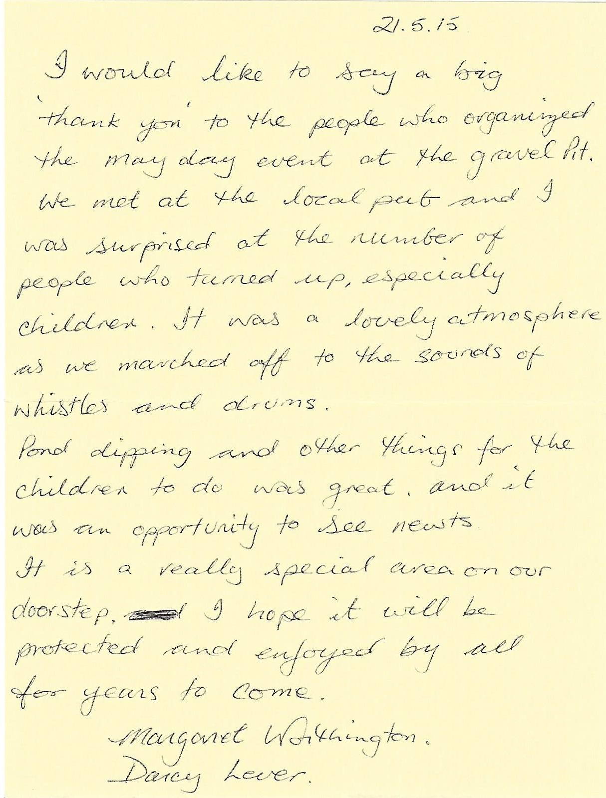 margaret's letter