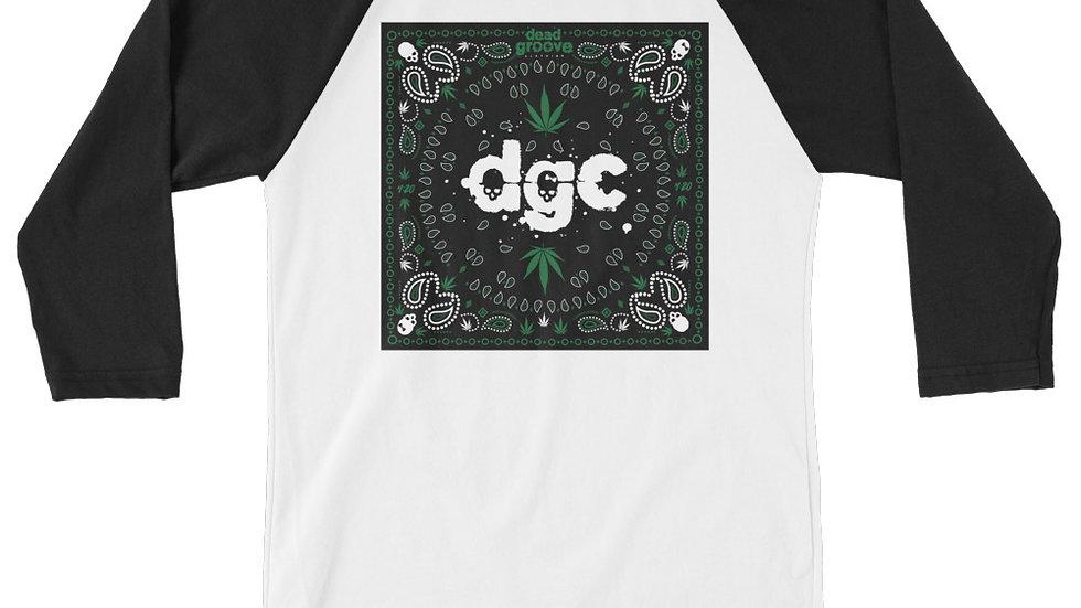 DGC 420 3/4 sleeve raglan shirt BLK/WHT