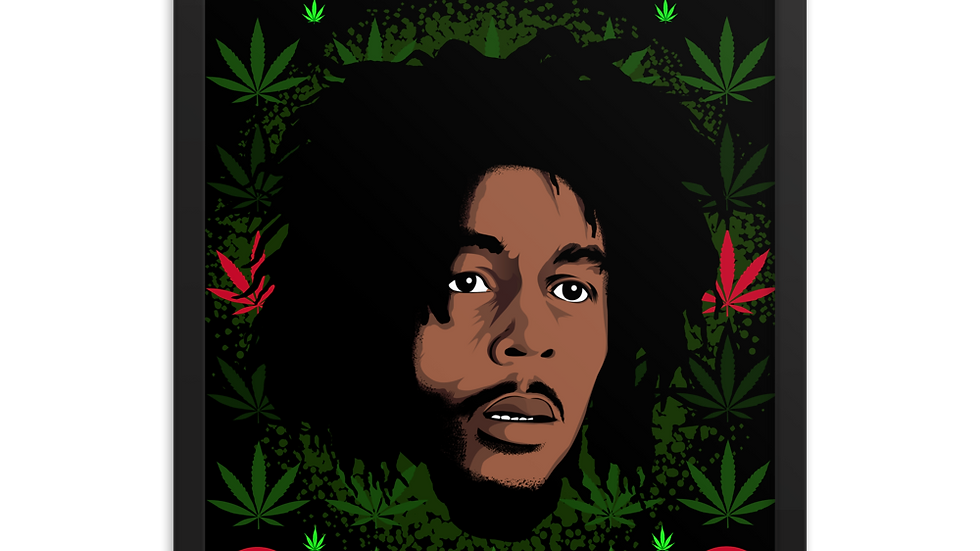 Early Days Bob Marley Print by Fred Aching Design