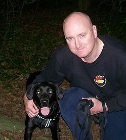 Mark Iles and dog
