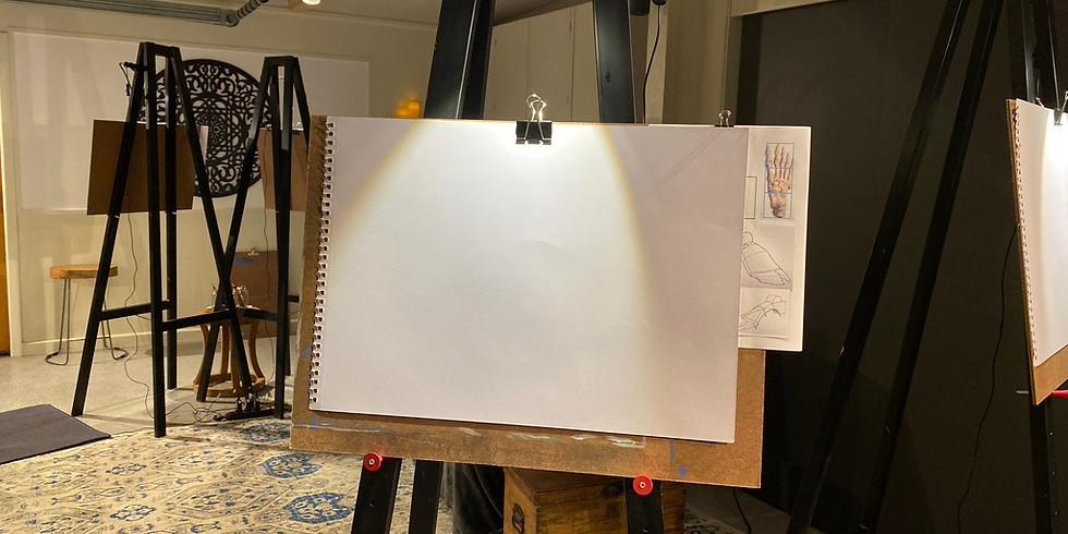 Life Drawing & Merlot - January!