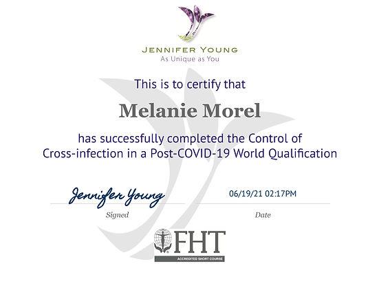 Certificate FHT COVID - Melanie Morel