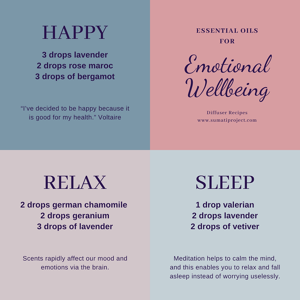 Diffuser recipes for emotional wellbeing essential oils lavender rose bergamot