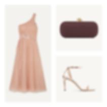 blush dress - burgundy clutch - blush sa