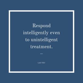 Responding vs. Reacting