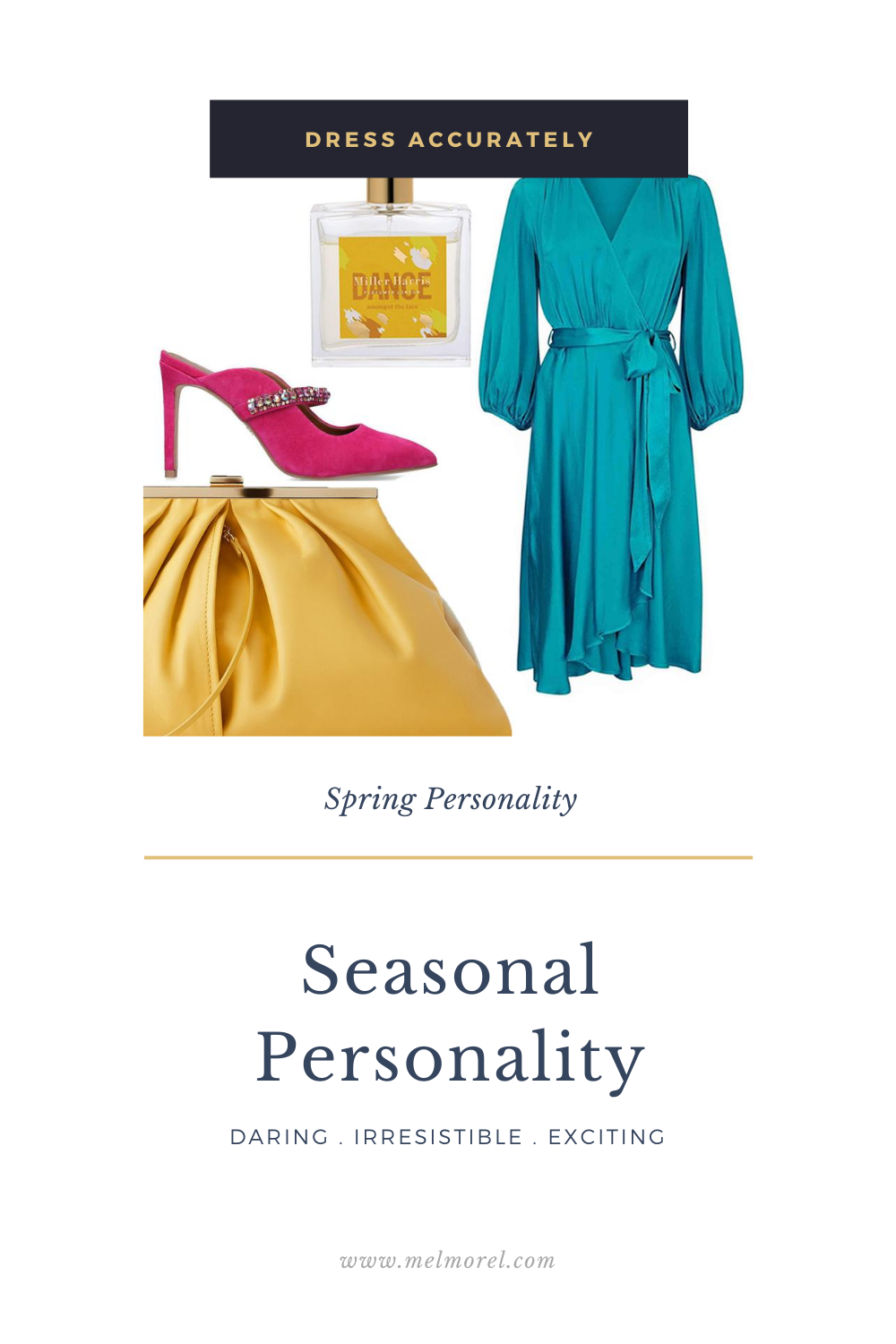 Spring Personality -  Aggie dress in mild blue - leather cross body bag - miller harris lace perfume - pink embellished stiletto heel mules