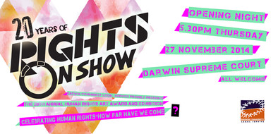 I have been lucky enough to design the promotional material for 'Rights On Show' three years in a row. The designs are a colaboration between myself (the Designer) and the Exhibition co-ordinator (the theme decider)