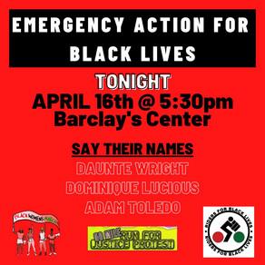 EMERGENCY ACTION FOR BLACK LIVES