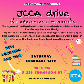 DOUBLE DRIVE: JCCA DRIVE + GIVEAWAY DRIVE