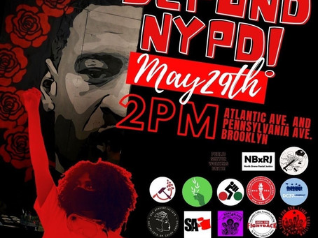 Memorial George Floyd + Defund NYPD Rally, March & community drop off/pick up