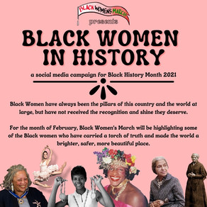 BLACK WOMEN IN HISTORY - BLACK HISTORY MONTH 2021