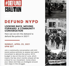 Defund NYPD -PANEL CONVERSATION GUEST