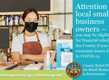 San Diego County Small Business Stimulus Grant