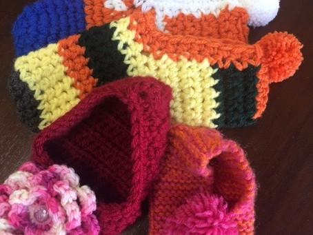 """Complimentary Knit and  Crochet Workshop   Sat.11/16   10:30-12:30 """"Hands and Feet"""""""