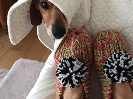 """Complimentary Workshop Knit/ Crochet, Sat.  11/16, 10:30-12:30 """"Slippers & Oven Mitts"""""""