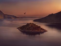 Sunrise in Odyseas Island