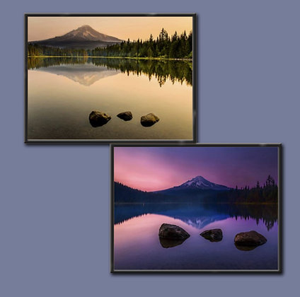 """MT Hood 2 pictures-Multi Box Frame 8x6"""" Duo"""