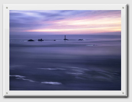 """Day's End in Land's End 40x30"""" beveled ice sandwich"""