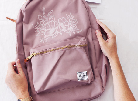 Drawing On My Backpack!