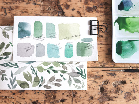 Mixing Watercolor Greens