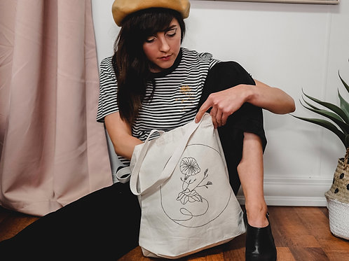 Morning Glory - September Organic Cotton Tote Bag