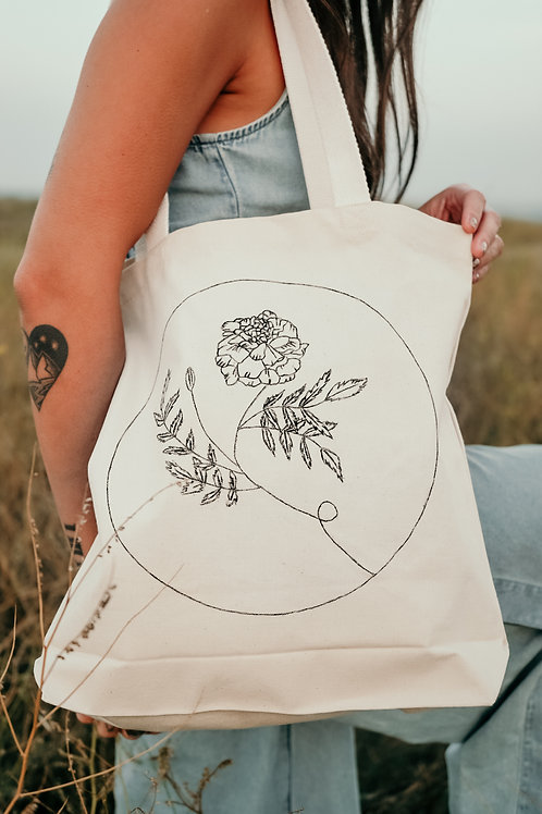 Marigold - October Organic Cotton Tote Bag