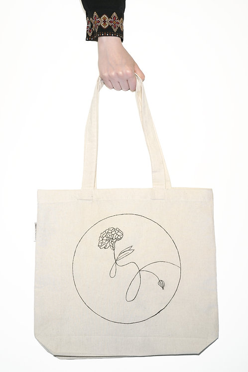 Carnation Tote Bag - January