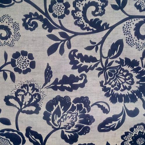 Tecido Suede Coleção Madri Floral Azul 04