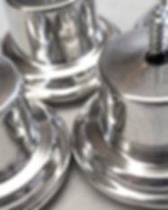 Pés metálicos para sofá poltrona sal decoração