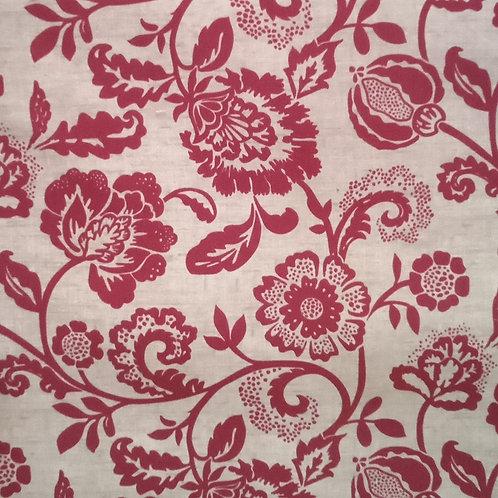 Tecido Suede Coleção Madri Floral 1 Vermelho