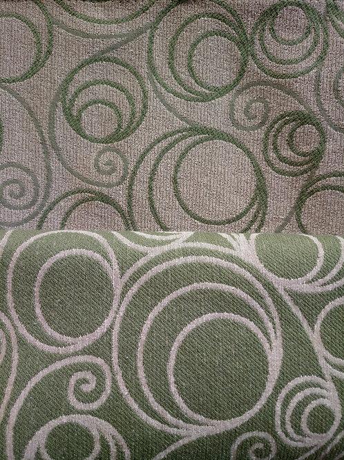 Tecido Jacquard verde 2