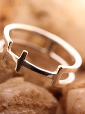 Cross X Cage Ring