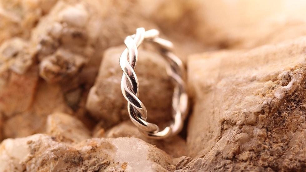 Cord Ring aus Silber