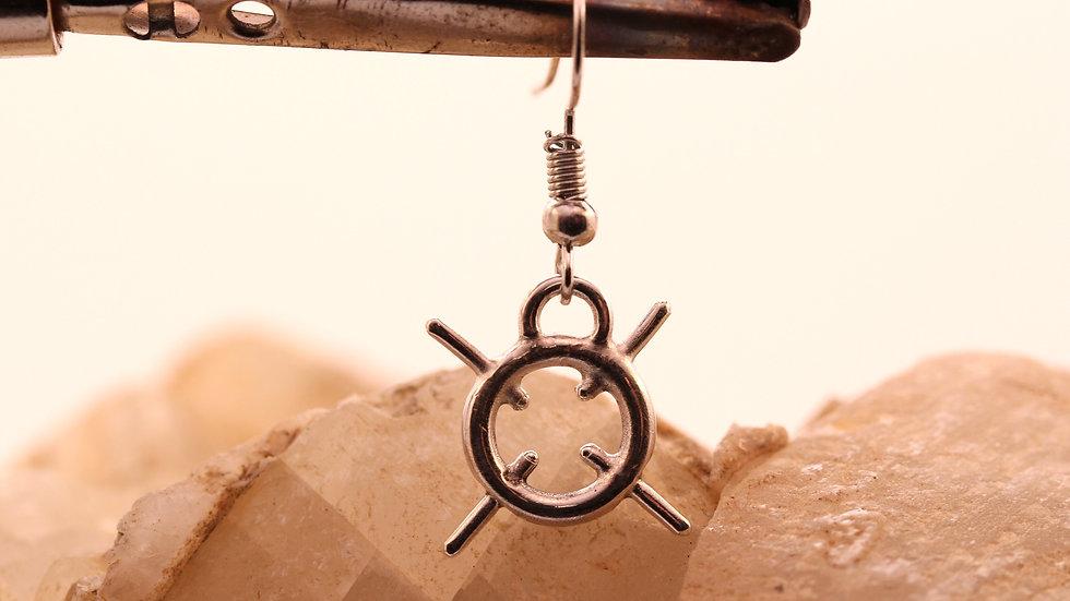 Target Ohrringe aus Silber