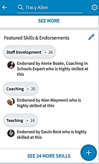 ENDORSEMENT LINKEDIN TRACY ALLEN SCIENCE TEACHER