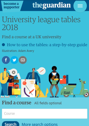 The Guardian University Guide,  by subject. Tracy Allen advices you to visit this before you complet