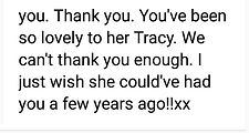 THANK YOU FOR TRACY ALLEN SCIENCE TUTOR