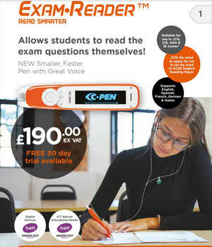 Exam boards accept the use of reader pens.