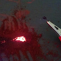 Reduction of Iron Oxide using pencil lead