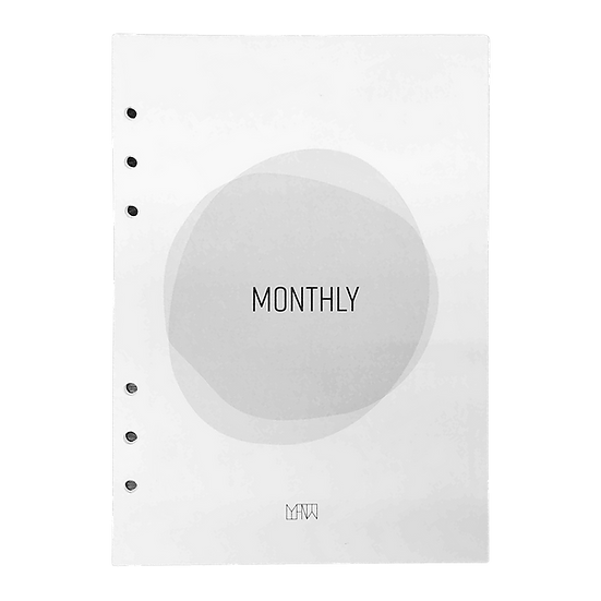Monthly 3-in-1 Inserts