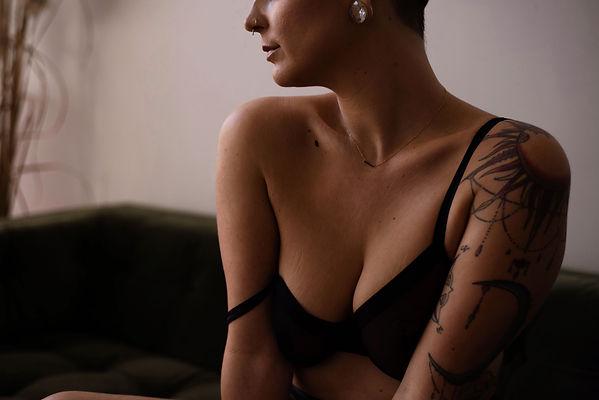 moody boudoir photography