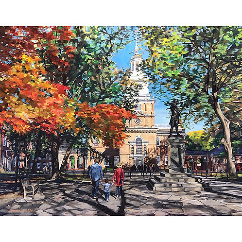 Independence Hall In The Fall (32x26 framed)
