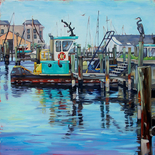 Hanging Out At The Docks 30x30