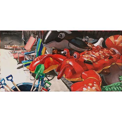 Air Lobster (28x14 framed)