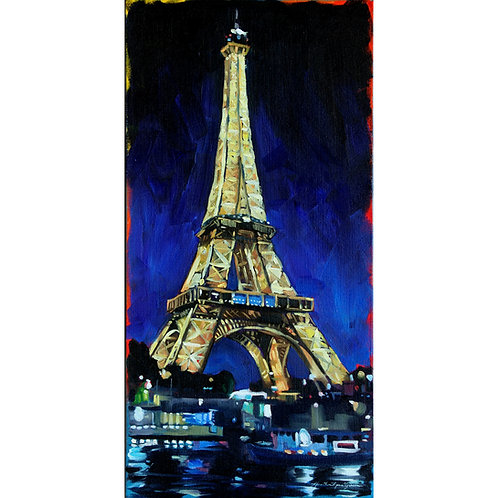 Eiffel Tower At Night 12x24