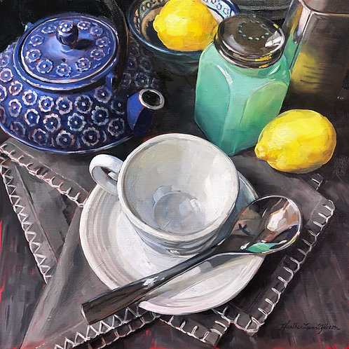 Blue Lemon Tea (20x20 framed)