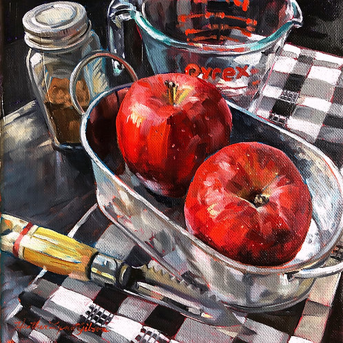 Lil' Applesauce (15x15 framed)